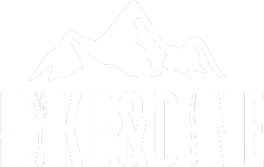 Hike&Dine Logo, white on transparent background, cropped