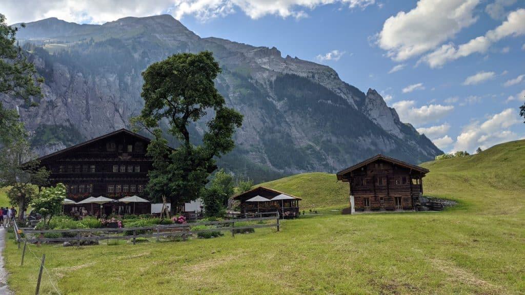 Landgasthof Ruedihus in Kandersteg, Switzerland.