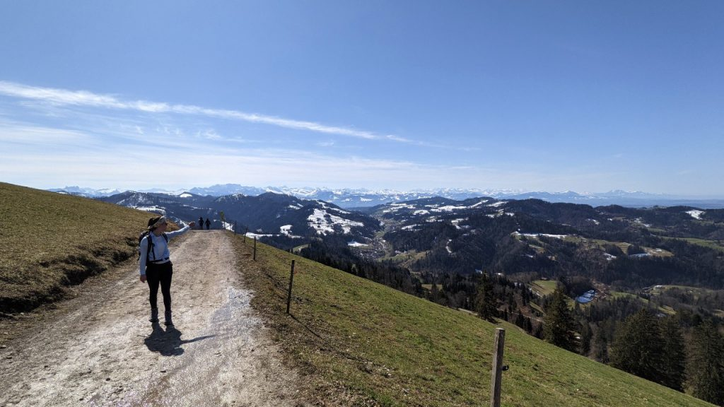 View from Hörnli to the Swiss Alps